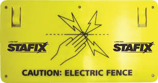 Stafix Electric Fence Sign
